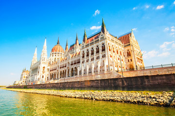 Wall Mural - Hungarian Parliament palace in Budapest