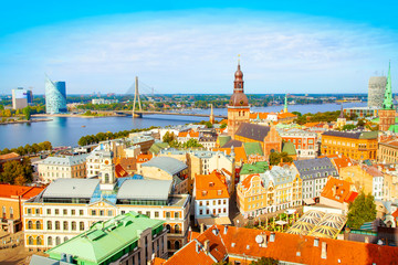 Wall Mural - Riga city skyline