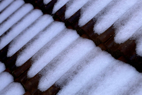 background of snow on roof