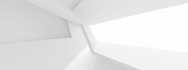 Fotobehang - Minimal Architecture Design. White Industrial Wallpaper