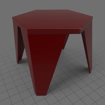 Modern hexagonal table