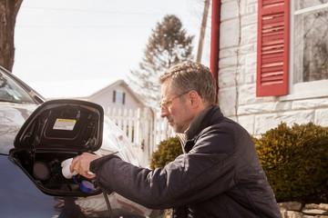 Man charging car