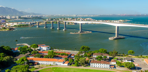 Third Bridge, the second tallest bridge in Brazil. Vitoria , ES , Brazil.