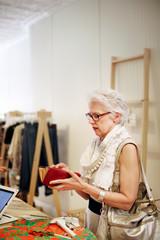 Customer buying dress