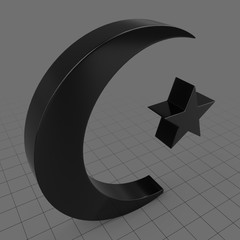 Crescent and star symbol