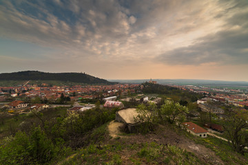 Town of Mikulov, Czech Republic as Seen from Rocks of Back Quarry (Zadní lom) near Old Bunker