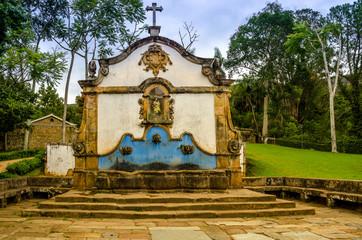 Tiradentes, Minas Gerais, Brazil .Historical fountain .