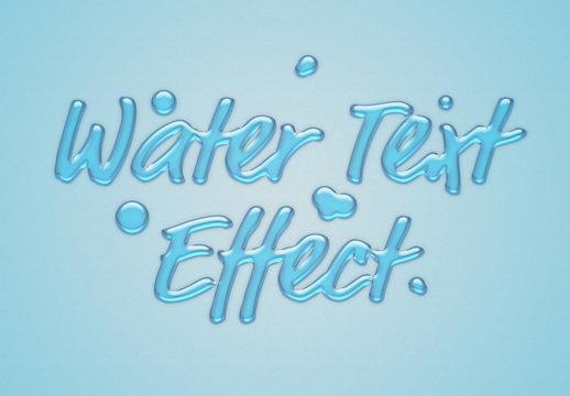 Blue Liquid Text Effect Mockup