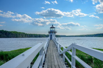 New England Coastal Lighthouse in the State of Maine