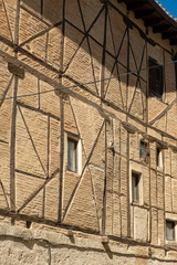 facade of half-timbered house