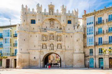 View at the City gate Arco de Santa Maria in Burgos - Spain Wall mural