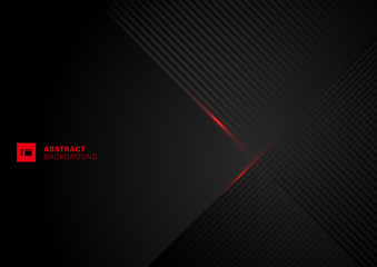 Abstract diagonal lines pattern overlap with red laser line on black background.