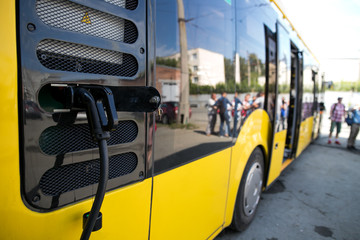 New energy bus battery charging