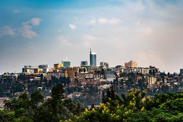 Fototapeten Barcelona Kigali Skyline Ruwanda Ruanda Hauptstadt