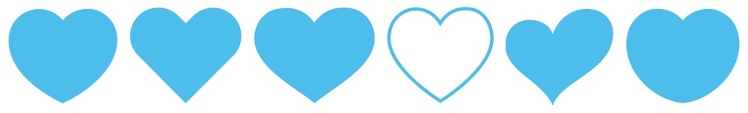 Heart Light Blue | Love | Logo | Variations