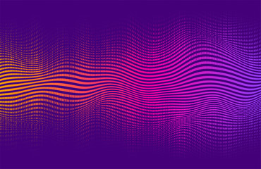 Abstract halftone gradient . Vector vibrant background, with blending colors and textures. Fotoväggar