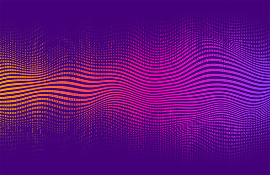 Abstract halftone gradient . Vector vibrant background, with blending colors and textures.