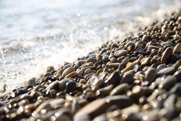 sea beach and spray background image