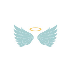heraldic wings or angel wings. illustration on white background