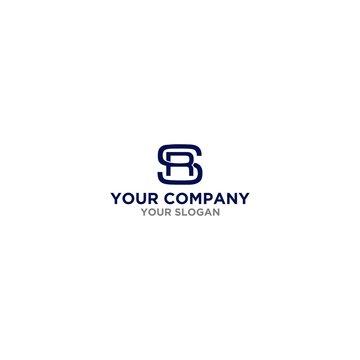 Simple SR Logo Design Vector
