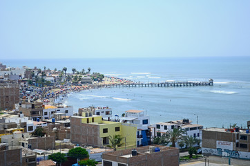 sky sea beach city ocean horizon