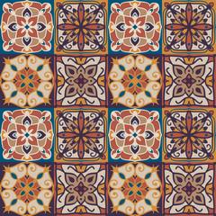 Seamless pattern of decorative tiles