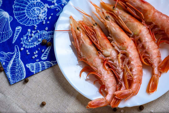 spiny lobster on a white plate
