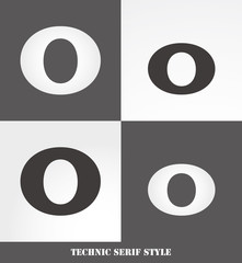 eps Vector image: Linear Serif style initials (O)