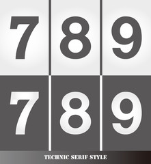 eps Vector image: Linear Serif style number.789