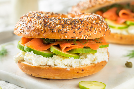 Homemade Salmond Lox Sandwich