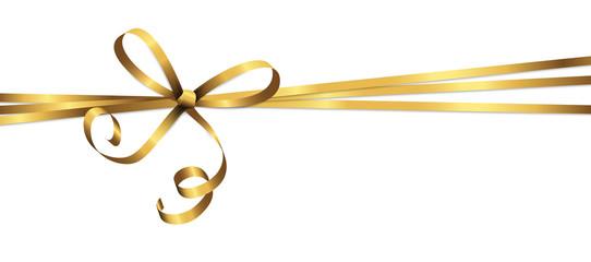 golden colored ribbon bow Fototapete
