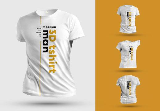 4 3D T-Shirt Mockups