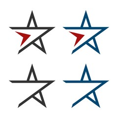 Star Swoosh Logo Template Illustration Design. Vector EPS 10.