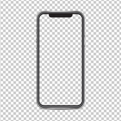 Mockup smartphone isolated on background png both the background and screen.
