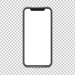 Smartphone mockup isolated on background png both the background.