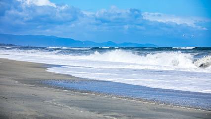 stormy ocean scenery background