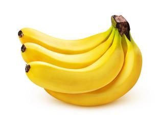 Fototapeta Banana bunch isolated on white background, closeup obraz
