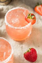 Homemade Red Strawberry Margarita
