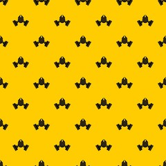 Gas mask pattern seamless vector repeat geometric yellow for any design