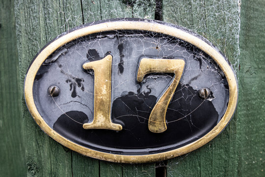 Written Wording in Distressed State Typography Found Number 17