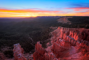 Foto op Aluminium Aubergine Amazing sunset in Cedar Breaks, Utah, USA.