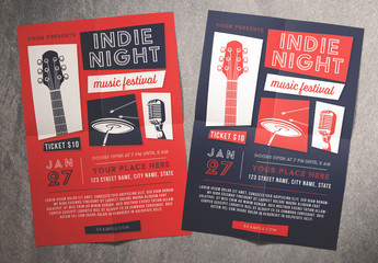 Indie Night Music Festival Flyer
