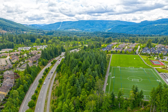 Snoqualmie Ridge Washington Aerial View