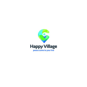 best original logo designs inspiration and concept for Happy Village home live by sbnotion