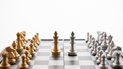 Chess game competition business concept , Business