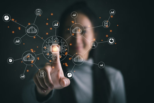 Digital transformation change management, internet of things (IoT), new technology bigdata and business process strategy, automate operation, customer service management, cloud computing