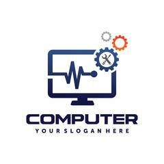 Computer Tech, Computer repair, Computer services, PC Logo vector