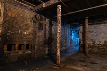 Grungy warehouse basement Wall mural