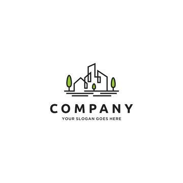 Home/House, Real Estate, Building City logo design inspiration