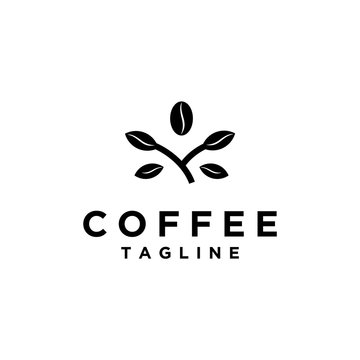 coffee beans organic, coffee shop logo design